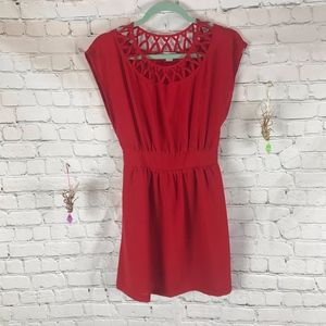 Forever 21 Red Cap Sleeve Dress Size S